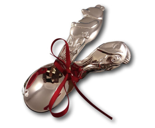 Disney Winnie the Pooh Eeyore Child Baby Infant Spoon Set 2pc Silverplate New