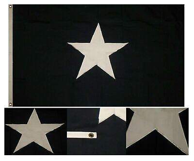 4x6 ft Bonnie Blue Historical 100% Cotton Flag 4'x6' Banner Grommets Embroidered