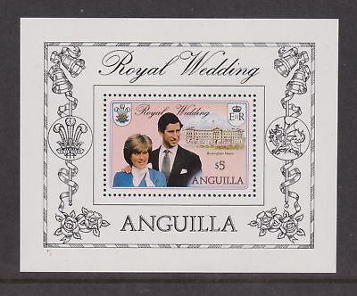 1981 Royal Wedding Charles & Diana MNH Stamp Sheet Anguilla $5 SG MS467