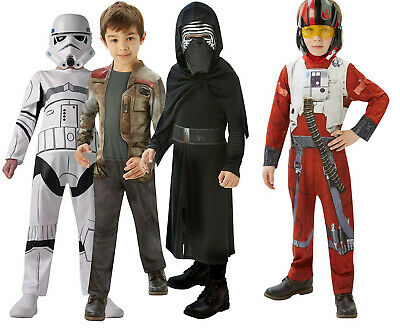 Official Star Wars Boys Costume - Kylo Ren - Finn - Stormtrooper - Poe