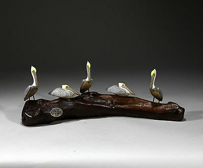 5 Pelicans Perching Sculpture New Direct by John Perry Statue Figurine Art