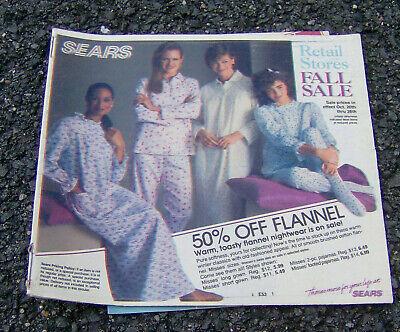 RARE vintage 1985 SEARS flier circular FALL SALE department store RETAIL 60 pgs! ()