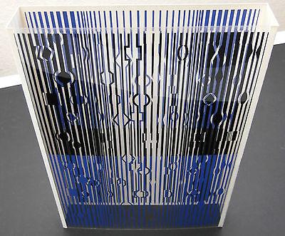 Victor Vasarely Tiefenkinetisches Original Op-Art Objekt 3-D Siebdruck aus 1971