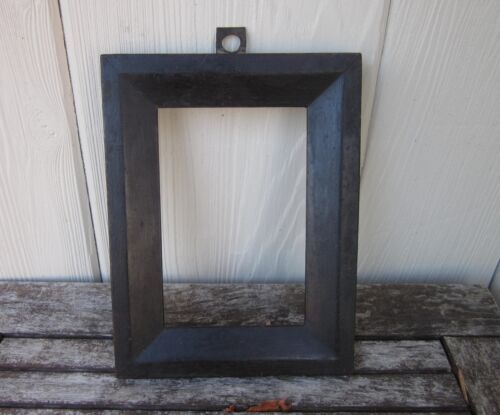 c1850 Excellent AMERICAN DRY BLACK Pa Folk Primitive MINIATURE Antique Frame