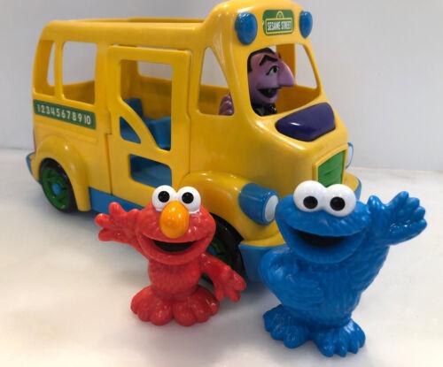Playskool Sesame Street School Bus Count Driver Plus Elmo And Cookie Monster - $28.99
