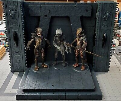 Xenowerx Action Figure Diorama Stand Base Predator Throne NECA 1:12