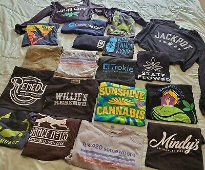 19 Cannabis Marijuana brand t-shirts Weed Stoner Swag Willie's reserve lot