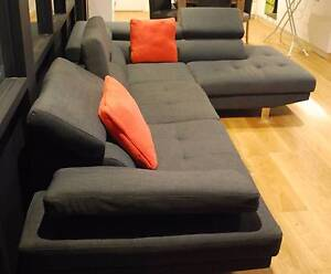 Sofa 3+ seater lounge with chaise Waterloo Inner Sydney Preview