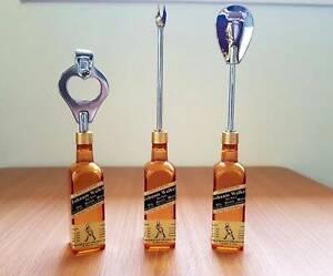Johnnie Walker 3 Piece Bottle Opener/ Bar Set - Miniature Accessories