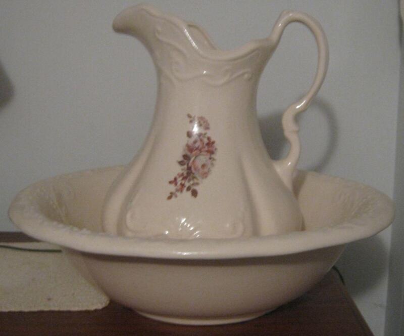 Antique Wash Basin Pitcher Ebay