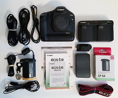 Canon 1D Mark III 10.1MP Digital SLR Camera  Black Body Only Orig Box EXCELLENT