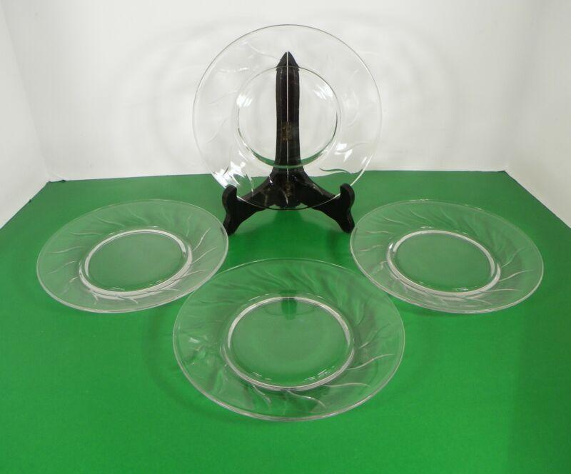 Fostoria Crystal CHAPEL BELLS Salad Plate (s) LOT OF 4 Vintage Elegant Glass