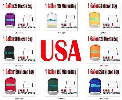 Pro Essense Extractor Kit Herbal Ice Bubble Hash 1-Gallon Bag W/ Pressing (Bag Kit Screen)