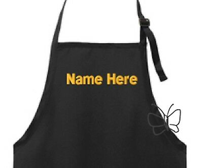 Custom Embroidered Apron Personalized Chef Apron Black FREE (Embroidered Chefs Apron)