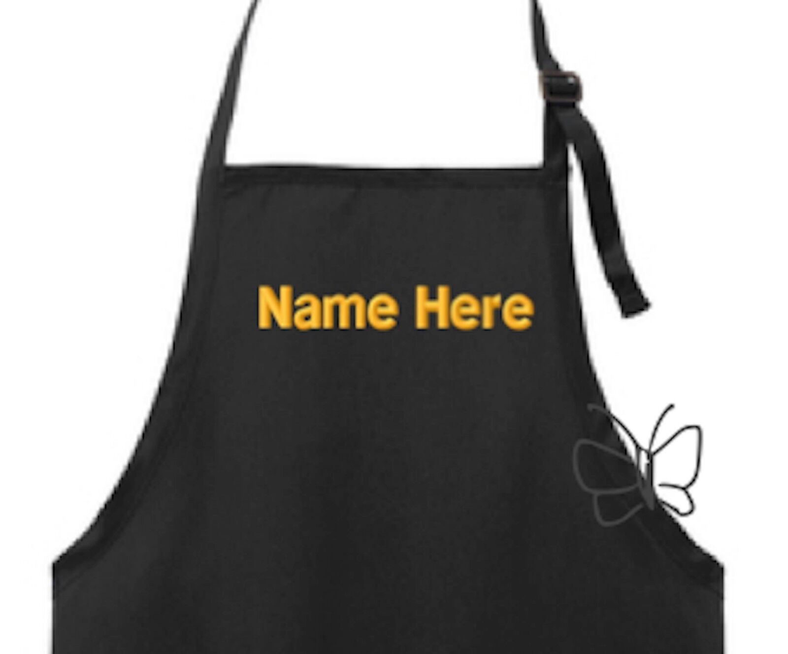 Custom Embroidered Apron Personalized Chef Apron Black FREE