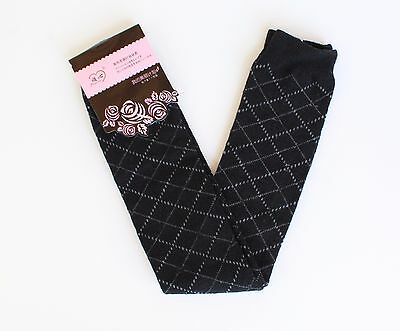 Black Grey diamond argyle knit stretchy leg warmers 21