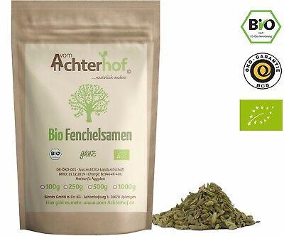 Bio Fenchelsamen 250g Fenchel als Gewürz oder Fencheltee natürlich vom-Achterhof (Natürliche Tees)