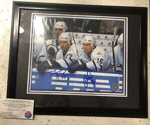 Darcy Tucker & Shayne Corson dual signed framed 8x10. With COA