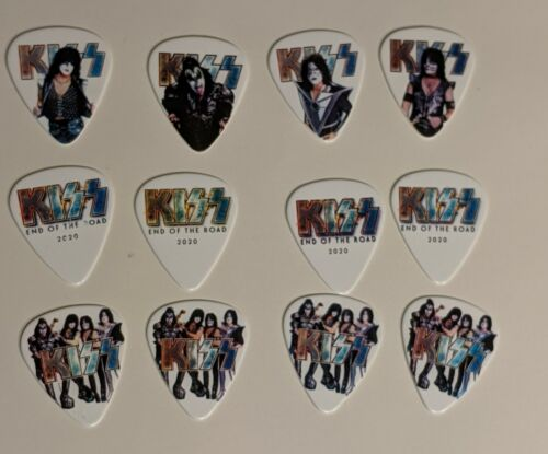 KISS EOTR 2020 Guitar Pick set of 12 END OF THE ROAD Paul Stanley Gene Simmons
