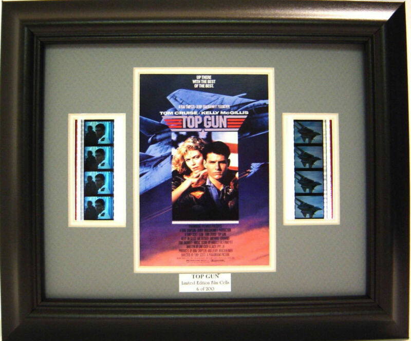 TOP GUN FRAMED FILM CELL TOM CRUISE