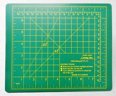 """Cutting Mat Self-Healing Board Craft Hobby Art Supplies Double Sided 9"""" x 7-1/2"""""""