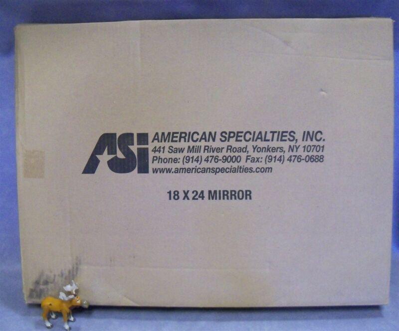 "18"" x 24"" Frameless Stainless Steel Mirror Polished Sheet ASI 10-8026-1824"