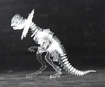 3-D Crystal Clear Ceratopsian Dinosaur Skeleton Puzzle ()