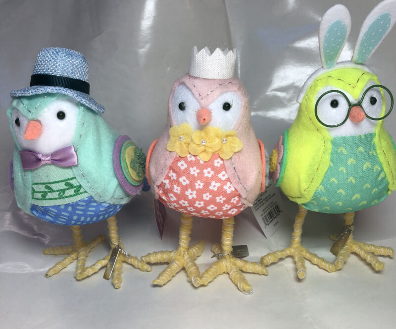 2020 Spring Easter Collection Fabric BIRDS Target Spritz LOT of 3 Stormy, Rainn