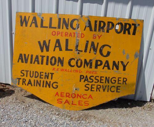 Old Airport Sign Watertown N.Y.  Walling Airport