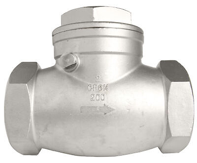 2 Stainless Steel 316 Swing Check Valve - 200wog