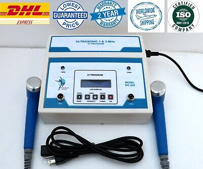 Physiotherapy Ultrasound Therapy 1mhz 3mhz Unit For Pain Relief Machine By Dhl