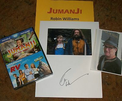 ROBIN WILLIAMS Autographed photo CD  & Photos -JUMANJI Very Unique