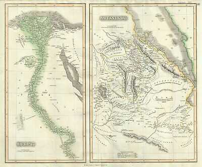 1817 Thomson Map of Egypt and Abyssinia (Ethiopia)