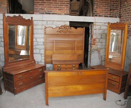 Antique Four Piece Victorian Bedroom Set