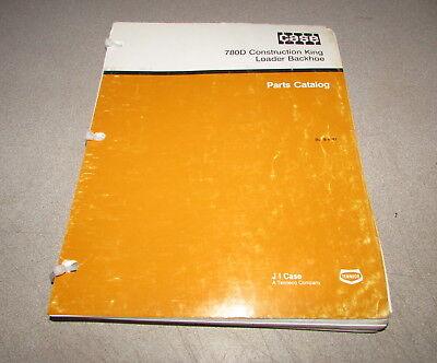 Case 780d Loader Backhoe Construction King Parts Catalog Manual 1989 8-4181