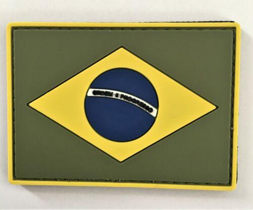 Brazil BR Flag PVC Patch Hook & Loop Sniper SEAL Recon SOI Ranger 11