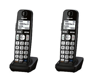 Panasonic KX-TGEA20 DECT 6.0 Expansion Accessory Cordless 2X Handset (BLACK)