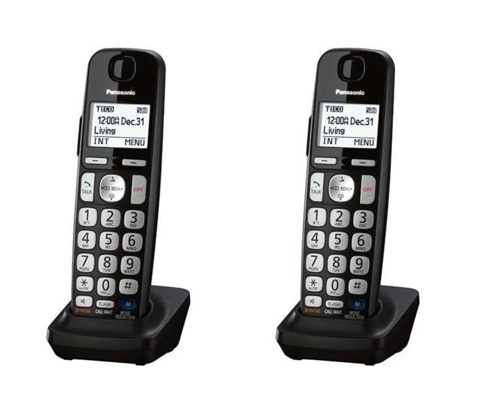 Panasonic KX-TGEA20 DECT 6.0 Expansion Accessory Cordless 2X Handset (BLACK)