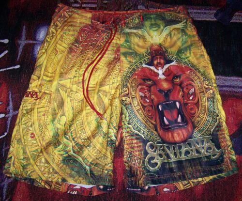 Vintage CARLOS SANTANA Dragonfly Polyester Swim Suit Trunks Surf Board Shorts 36