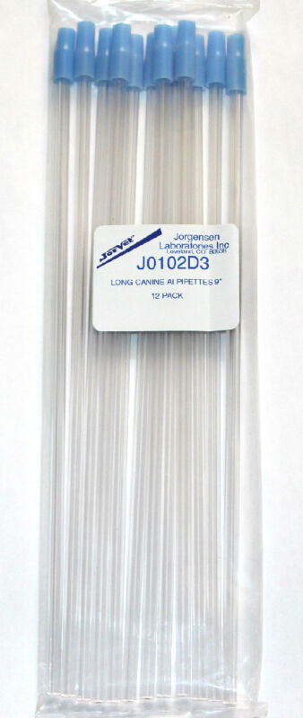 CANINE ARTIFICIAL INSEMINATION PIPETTES !!!!! PACK OF 12 !!!!! GRADE A !!!!!!