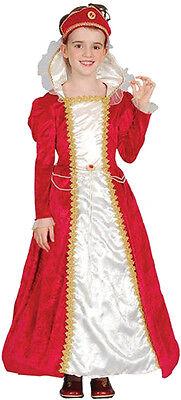 edles Kostüm Prinzessin Märchen rotes Samtkleid Gr. 110/116 Edeldame Königin