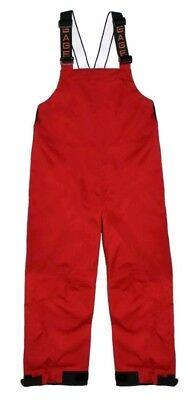Grundens Gage Deck Boss Bib DB16R Size 3XL Men's Red Waterproof Breathable Pants