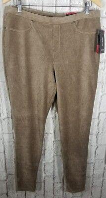 NEW Style & Co Tan Corduroy Leggings Pants Sz XL 16 Comfort Waist Mid Rise #NO