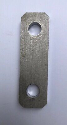 Stainless Steel Flat Bar Bracket Spacer 1-316x 3-1516x 38 Thick W 2 Holes