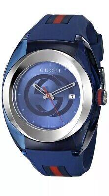 Gucci YA137104 Sync XXL Blue Rubber Sync Watch