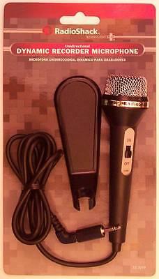- RadioShack 33-3019 Unidirectional Dynamic Recorder Microphone ~ 4 Foot Cord