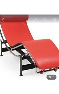 Moving Sale- Chaise Lounge Red Leather $179