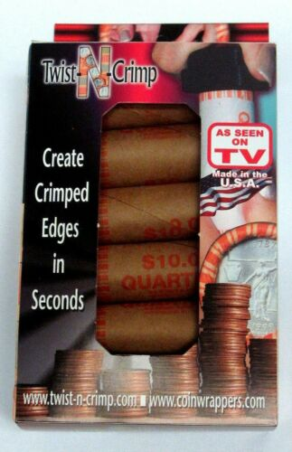 Nested Box of 40 Coin Wrappers with Twist-N-Crimp Included - N.F. String