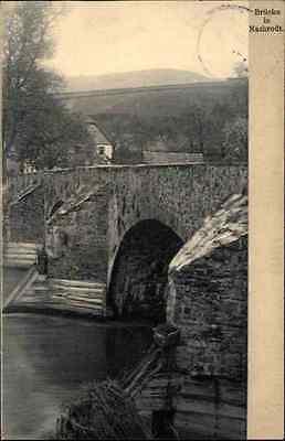 1907 Stempel Iserlohn auf alter AK Nachrodt-Wiblingwerde Blick auf die Brücke