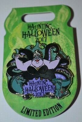 Disney Ursula Haunting Halloween 3-D Pin Limited 4500 4th of 4 in Series 2017](Disney Halloween 2017)
